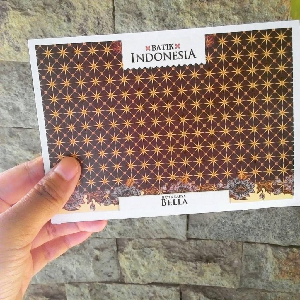 bakat anak kartu pos batik
