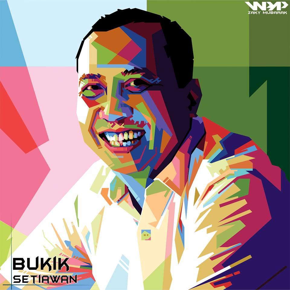 menggambar Wedha's Pop Art Portrait WPAP Bukik